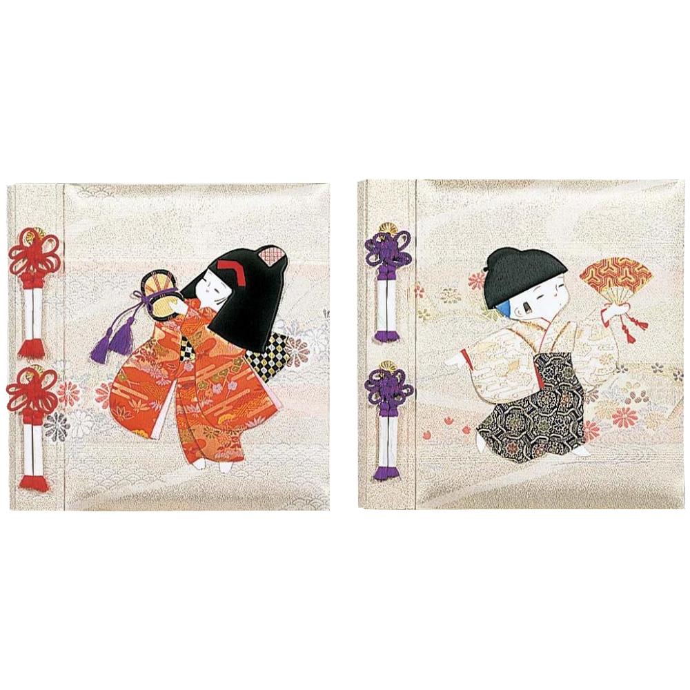【クーポンあり】【送料無料】ナカバヤシ フエルアルバム 誕生用 京人形
