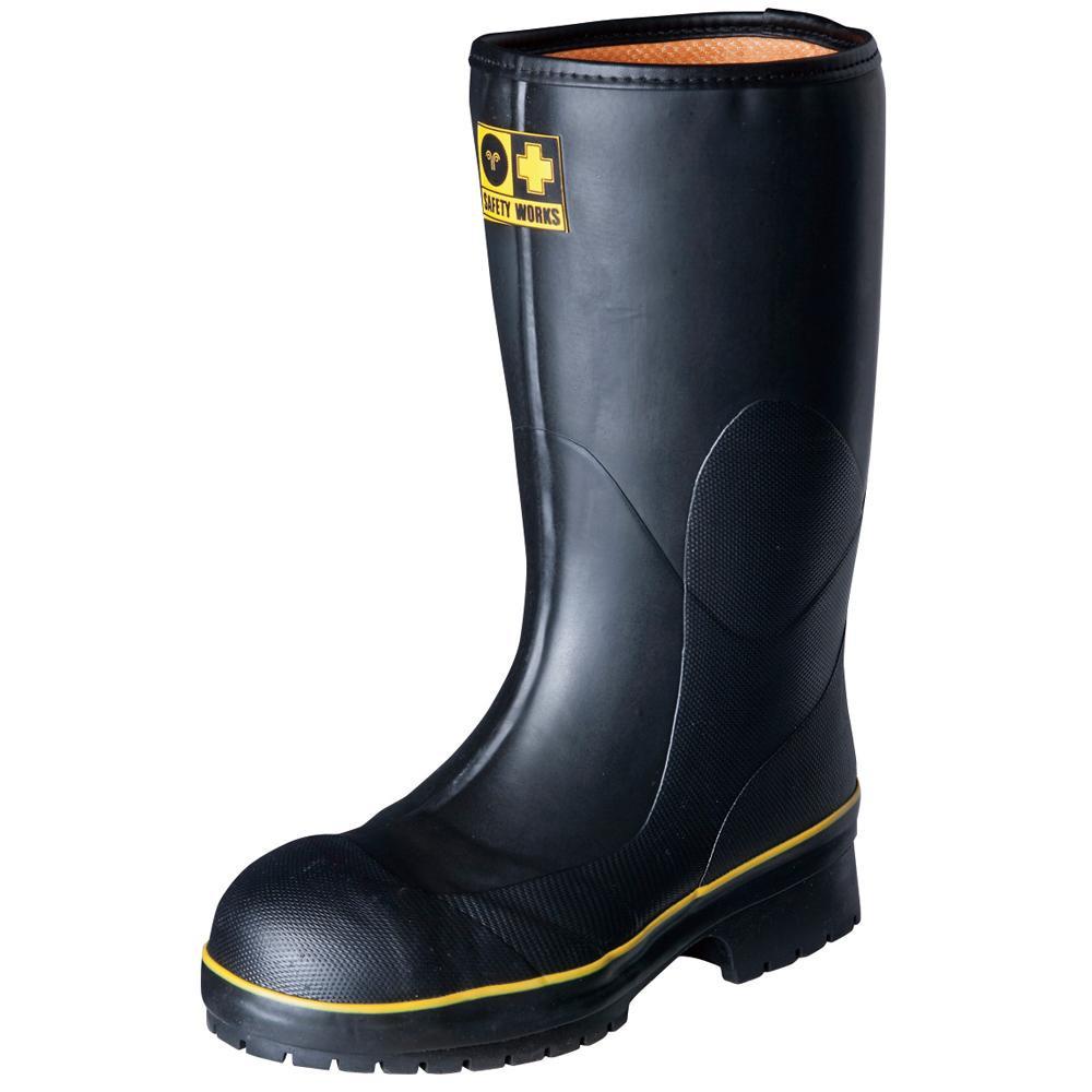 【クーポンあり】【送料無料】弘進ゴム 長靴(ゴム製) ライトセーフティーワークス LSW-01 黒 26.0cm A0020AB 先芯入りで使いやすい長靴。