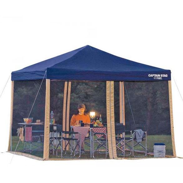 【クーポンあり】【送料無料】CAPTAIN STAG スクリーンパネル 300×200UV M-3174 ピクニック 蚊帳 キャンプ かや テント UVカット レジャー メッシュ 通気性