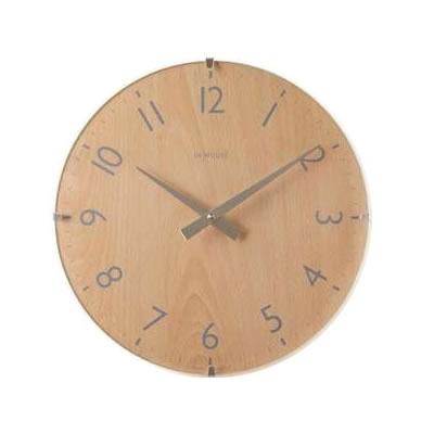 【クーポンあり】【送料無料】イギリス IN HOUSE インハウスデザイン社 ドームクロック 29cm ビーチウッド・NW31CA 壁掛け シンプル 時計 インテリア ウォールクロック コンテンポラリークロック 掛け時計 ナチュラル ベーシック モダン モダン