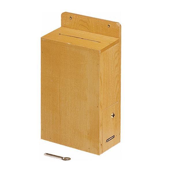 【クーポンあり】【送料無料】コレクト 投書箱 木製 鍵つき M-500 小道具 投書用 日本製 投票箱 投票 吊り下げ コミュニケーション 鍵付き