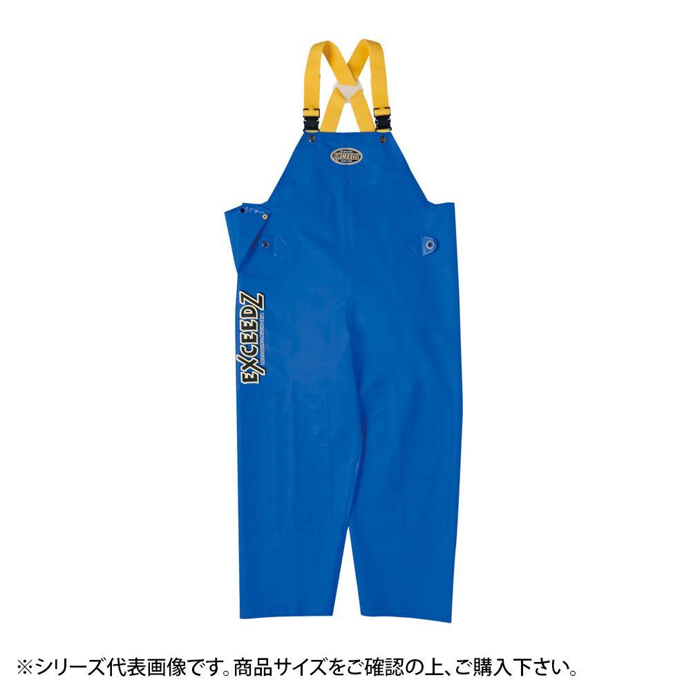 【クーポンあり】【送料無料】弘進ゴム エクシーズEX-01 胸付ズボン ブルー 4L G0598AK