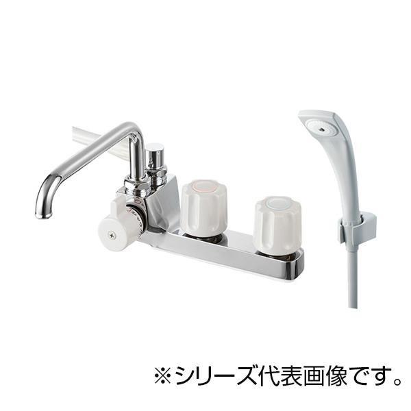 【送料無料】SANEI ツーバルブデッキシャワー混合栓 SK71041L-LH-13
