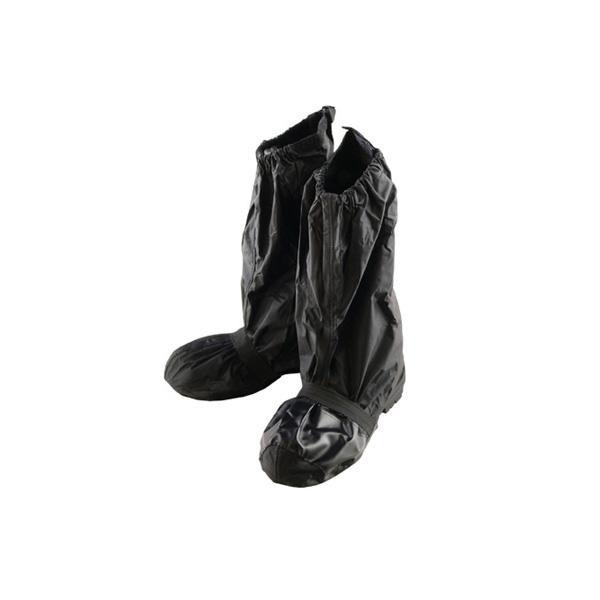 膝下まで覆えるブーツカバー クーポンあり リード工業 Landspout 格安店 RW-052A ブーツカバー フリーサイズ ブラック 使い勝手の良い