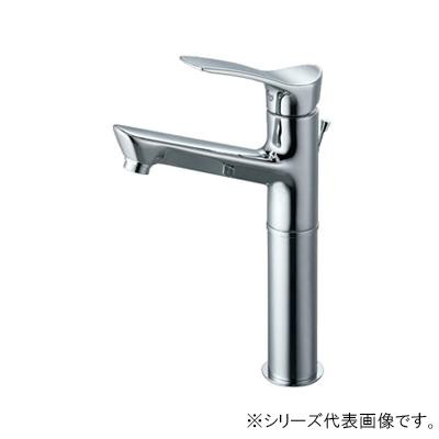 【クーポンあり】【送料無料】三栄 SANEI COULE シングルワンホール洗面混合栓 K4712PJV-2T-13 吐水、止水が簡単に行えます。