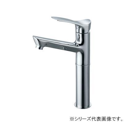 【クーポンあり】【送料無料】三栄 SANEI COULE シングルワンホール洗面混合栓 K4712NJK-2T-13 吐水、止水が簡単に行えます。