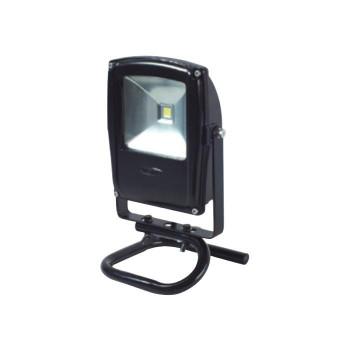 【送料無料】LEN-F10S-BK-S LEDフラットライト 10W 床スタンド式 黒 電球色 13012