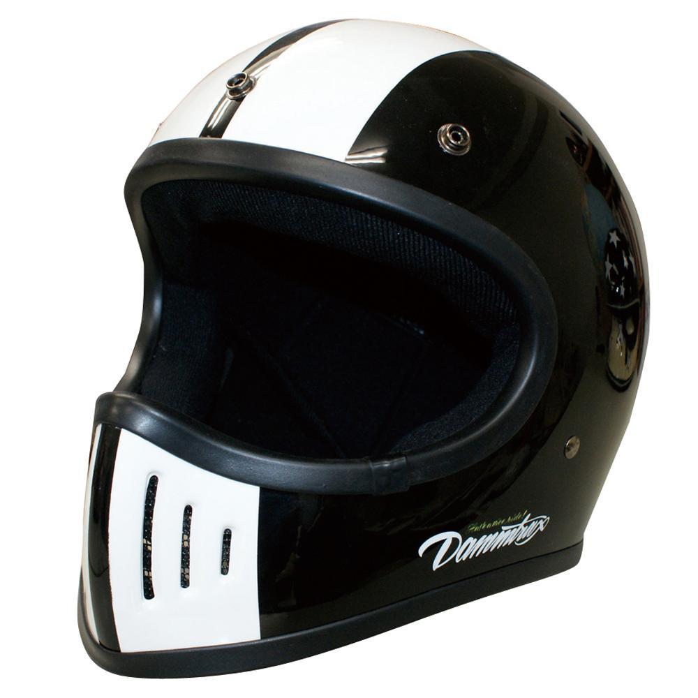 【クーポンあり】【送料無料】ダムトラックス(DAMMTRAX) バイクヘルメット THE BLASTER COBRA-改 BLACK L 軽量化され、被り心地も良いヘルメット。