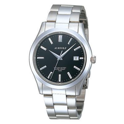 【クーポンあり】【送料無料】AUREOLE(オレオール) ドレス メンズ腕時計 SW-409M-1