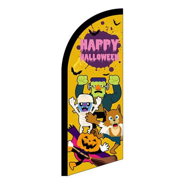 【クーポンあり】【送料無料】セイルバナー ミニ HAPPY HALLOWEEN キャラ黄 40131 ハロウィン宣伝用のセイルバナー!!