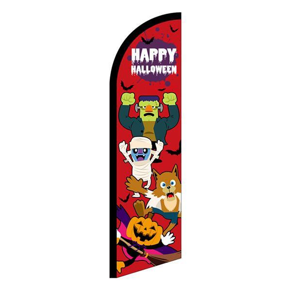 【クーポンあり】【送料無料】セイルバナー 小 HAPPY HALLOWEEN キャラ赤 40130 ハロウィン宣伝用のセイルバナー!!
