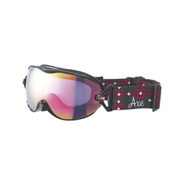 【クーポンあり】【送料無料】AXE(アックス) レディース スキーゴーグル AX650-WCM BK スキーやスノボーする時におすすめ!