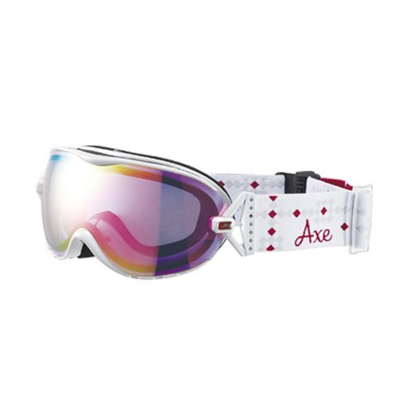 【クーポンあり】【送料無料】AXE(アックス) レディース スキーゴーグル AX650-WCM WT スキーやスノボーする時におすすめ!