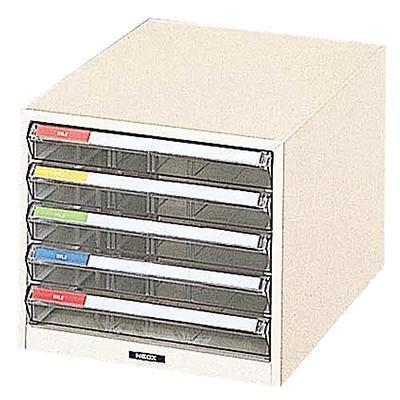 【クーポンあり】【送料無料】ナカバヤシ レターケース B4 292×411×254 1列 B4-5P カラー分類でスピーディな書類整理。