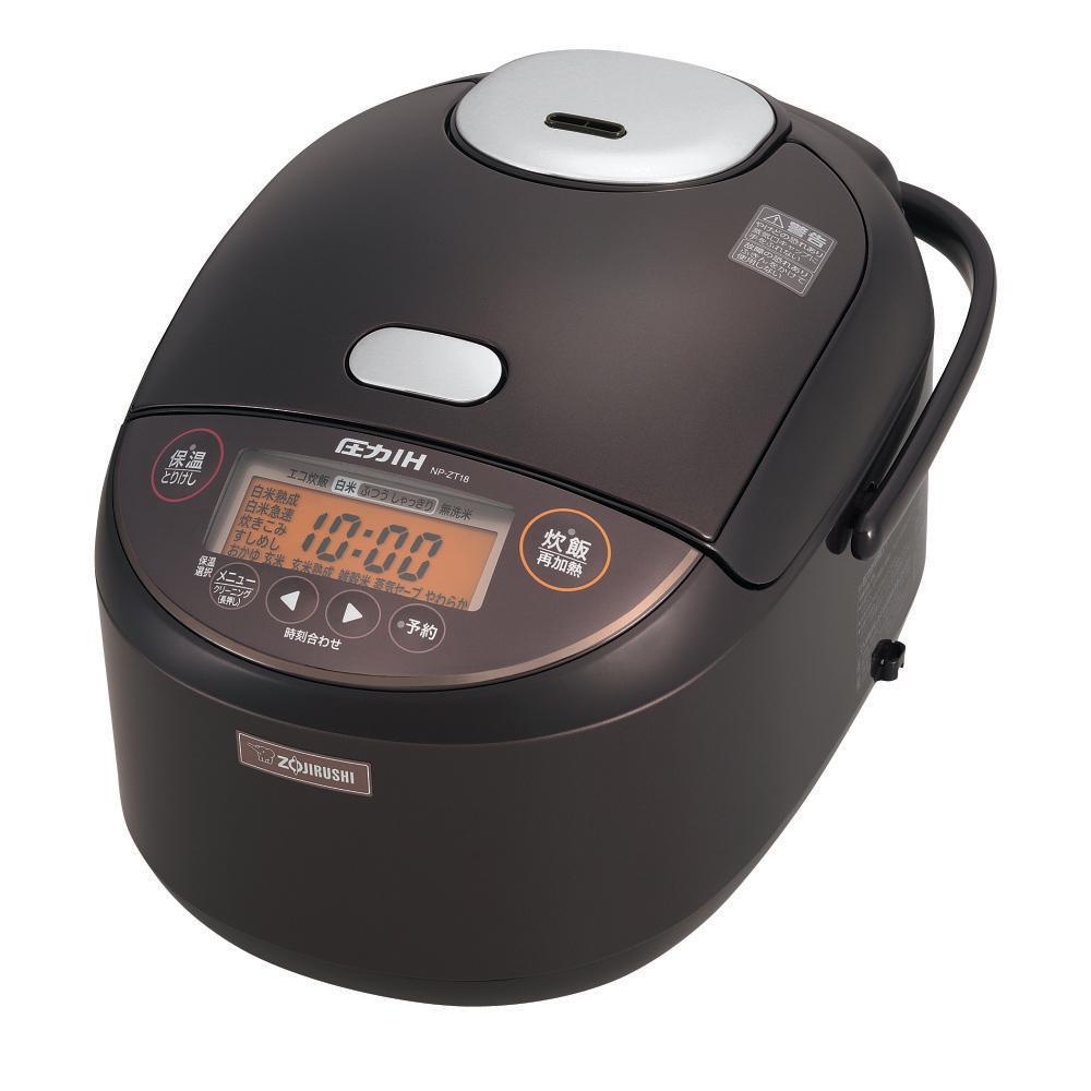 【クーポンあり】【送料無料】象印 圧力IH炊飯ジャー 極め炊き 1升 ダークブラウン(TD) NP-ZT18