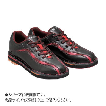 【送料無料】ボウリングシューズ 両足張替えシューズ ブラック/レッド 28.5cm HS-925
