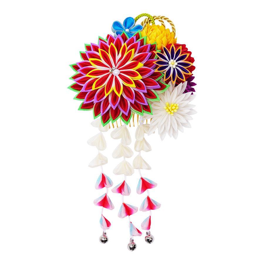 【クーポンあり】【送料無料】和風髪飾り 224-001 アカ