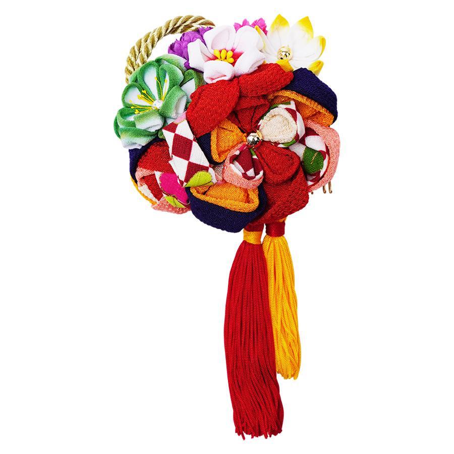 【クーポンあり】【送料無料】レトロポップな和風髪飾り 224-021 アカ