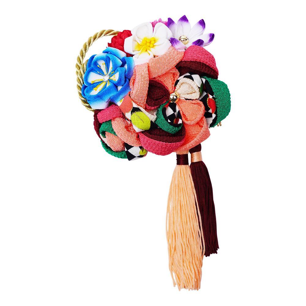 【クーポンあり】【送料無料】レトロポップな和風髪飾り 224-021 サーモン