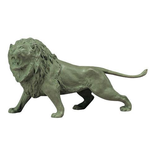 【クーポンあり】【送料無料】高岡銅器 銅製置物 ライオン 47-04