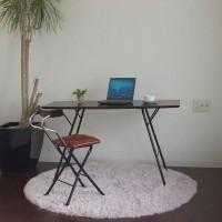 【クーポンあり】【送料無料】ルネセイコウ トラス バレルテーブル1250 ダークブラウン/ブラック 日本製 完成品 TBT-1250TD/洗礼されたミニマルデザインの折りたたみ式テーブル。