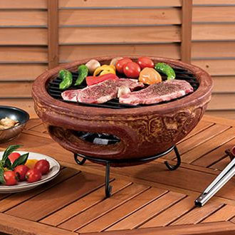【クーポンあり】【送料無料】メキシコ製テーブルチムニー MCH4426/自宅の庭で楽しめる♪メキシコの伝統的な卓上コンロ。
