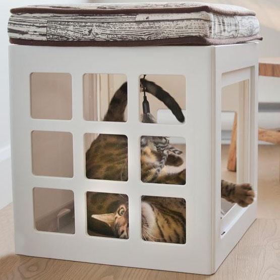 【クーポンあり】【送料無料】ビーワンブリード Katt3 キャットハウス シングルキューブ シンプルキャットハウスとしても使用可能♪
