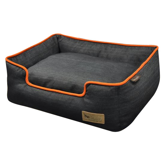 【クーポンあり】【送料無料】ラグジュアリーベッド「P.L.A.Y」 ペット用ラウンジベッド(BOX型) XL アーバンデニム/オレンジ あご乗せもできる「ラウンジベッド」♪