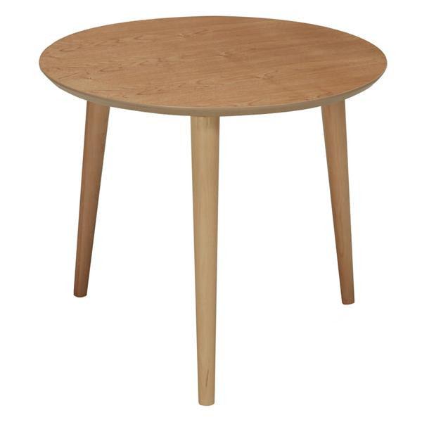 【クーポンあり】【送料無料】ines(アイネス) 木製ラウンドテーブル NK-315 リビング ダイニング コーヒーテーブル サイドテーブル 机 円形 組み立て簡単 ミニテーブル
