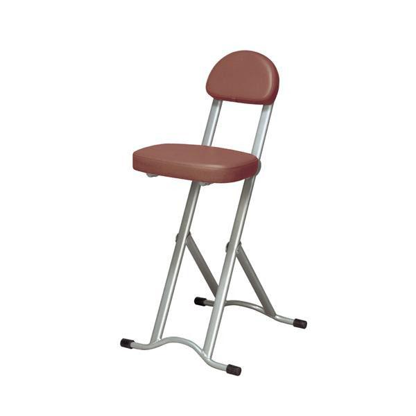 【クーポンあり】【送料無料】ines(アイネス) 高さ調節チェア NK-017 椅子 フォールディングチェア 折りたたみ コンパクト キッチン 簡易 スチール パイプ椅子 スリム ハイタイプ 台所