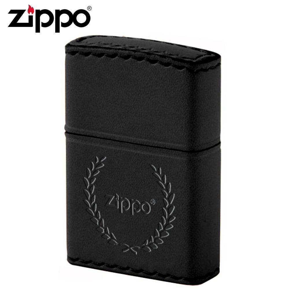【送料無料】ZIPPO(ジッポー) オイルライター B-7革巻き 月桂樹 ブラック 職人が丁寧に手縫いした牛革使用のZIPPO。