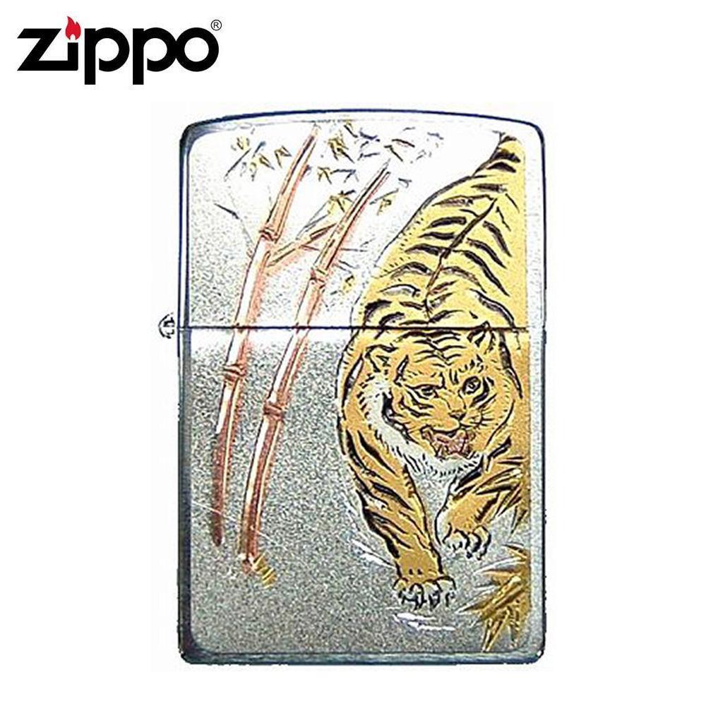 【クーポンあり】ZIPPO(ジッポー) オイルライター 電鋳板 タイガー 和柄が綺麗に映えるZIPPO(ジッポー)。