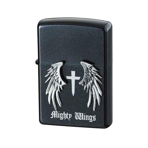 【クーポンあり】【送料無料】ZIPPO マイティウイングス ブラック/まるで天使の羽を思わせるデザインのジッポー。