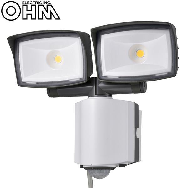 OHM 【クーポンあり】【送料無料】オーム電機 2灯式LEDセンサーライト OSE-LS2200