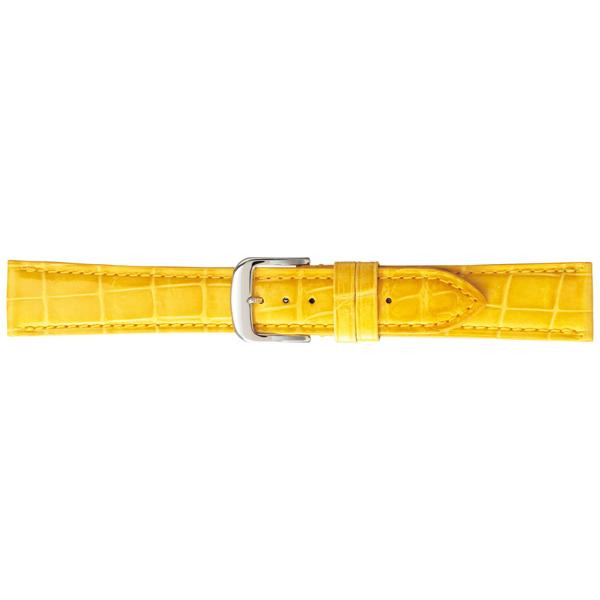 【クーポンあり】【送料無料】BAMBI バンビ 時計バンド グレーシャス ワニ革(クロコダイル) イエロー BWA005YP