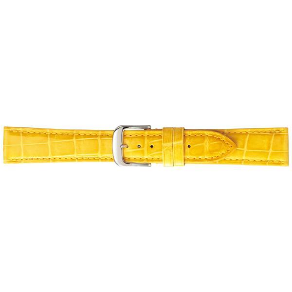 【クーポンあり】【送料無料】BAMBI バンビ 時計バンド グレーシャス ワニ革(クロコダイル) イエロー BWA005Y-S