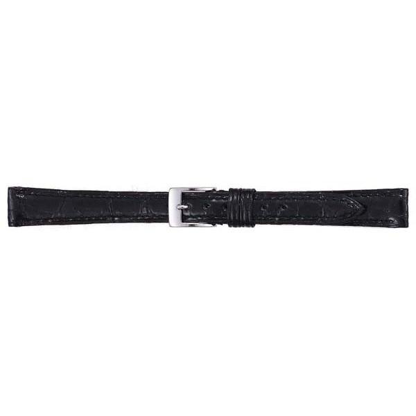 【クーポンあり】【送料無料】BAMBI バンビ 時計バンド グレーシャス ワニ革(カイマン) 黒 BWA113AL