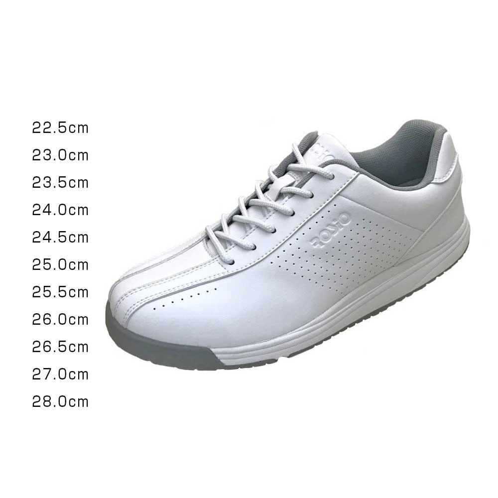 【クーポンあり】【送料無料】ROSIO ロシオ RGT ホワイト 靴 衝撃吸収 シューズ ウォーキング 白 おしゃれ インソール 運動靴