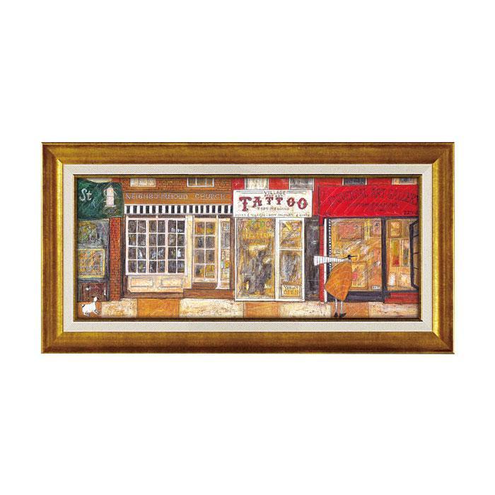 【送料無料】ユーパワー アートフレーム サム トフト 「あなたの住む街角で」 ST-10021 絵と額がセットになった商品です。