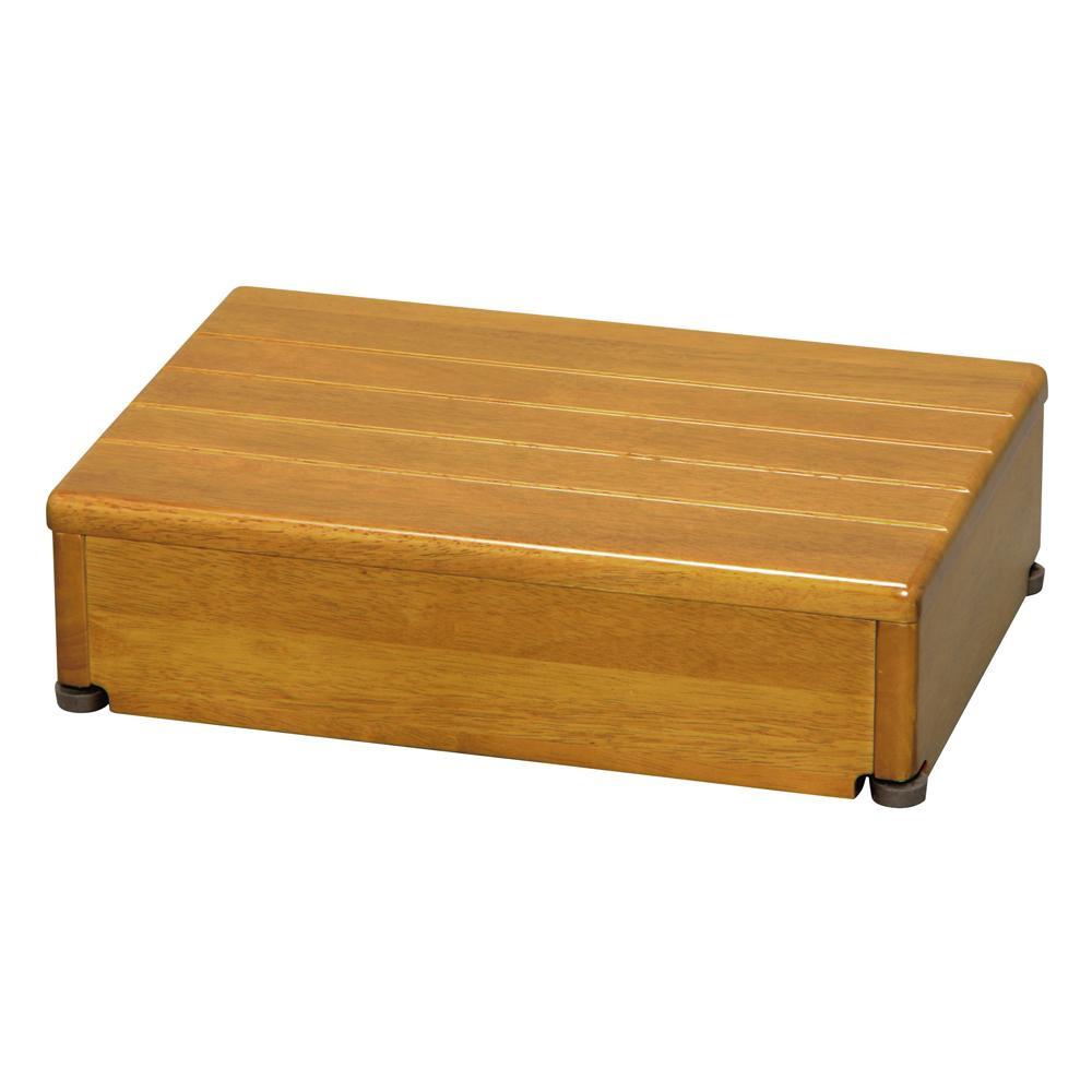 送料無料★ななめからも昇り降りしやすい箱型形状の玄関台です。 【クーポンあり】【送料無料】木製玄関台 1段型 ライトブラウン 45W-30-1段 ななめからも昇り降りしやすい箱型形状の玄関台です。
