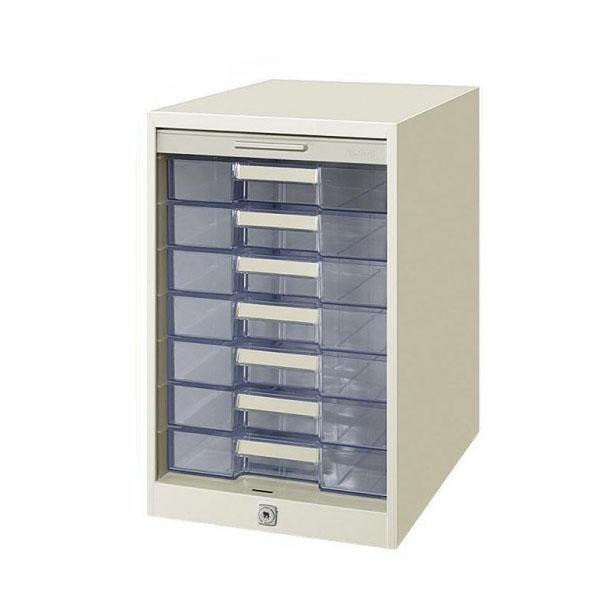 【送料無料】コクヨ シャッターケース透明7段 SC-G7M/施錠管理ができ、個人情報の漏えいを防ぐ透明引出しタイプ♪