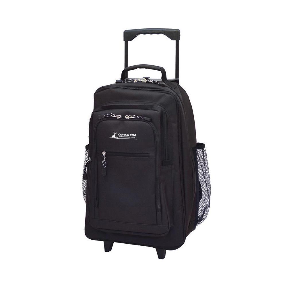 【クーポンあり】CAPTAIN STAG 3WAYキャリーバッグ リュック ブラック 01242 「引く」「持つ」「背負う」3wayキャリーバッグ。