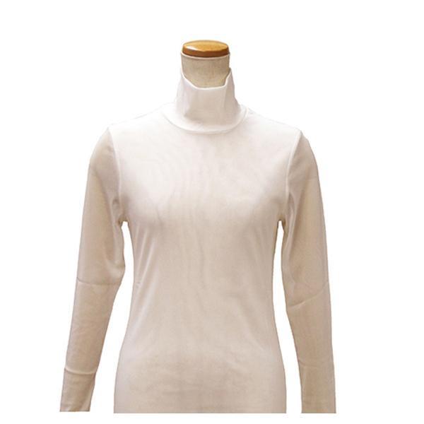 【クーポンあり】【送料無料】ハマナカ インナーM 生成り H180-001-1 女性 防寒 下着 タートルネック 長袖 レディース 肌着 ババシャツ