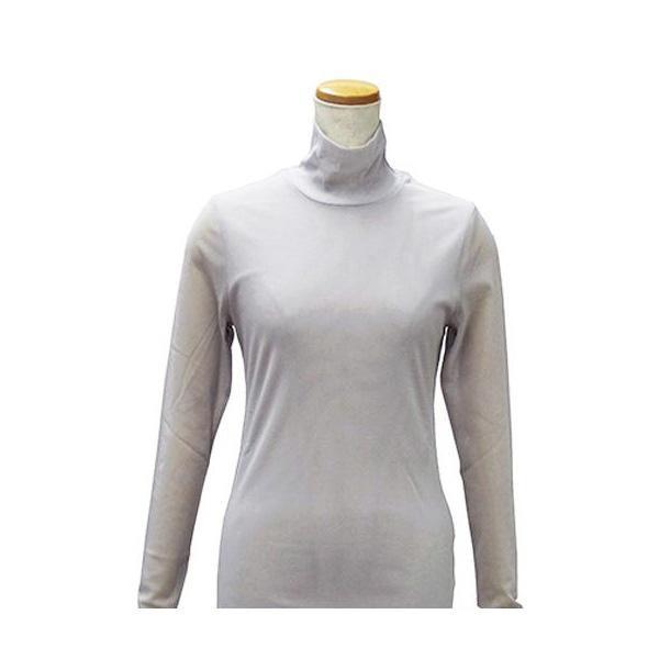 【クーポンあり】【送料無料】ハマナカ インナーM 薄グレー H180-001-2 レディース 女性 肌着 下着 ババシャツ 長袖 タートルネック 防寒