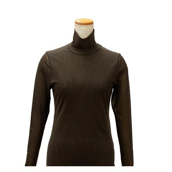 【クーポンあり】【送料無料】ハマナカ インナーM こげ茶 H180-001-3 レディース 防寒 肌着 女性 ババシャツ タートルネック 長袖 下着