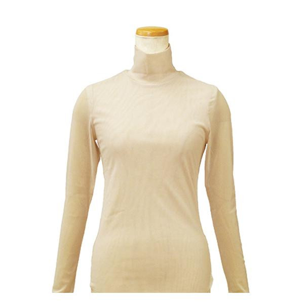【クーポンあり】【送料無料】ハマナカ インナーM ベージュ H180-001-5 女性 肌着 下着 タートルネック 長袖 レディース 防寒 ババシャツ