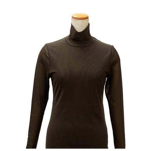 【クーポンあり】【送料無料】ハマナカ インナーL こげ茶 H180-002-3 女性 下着 レディース タートルネック 肌着 防寒 ババシャツ 長袖