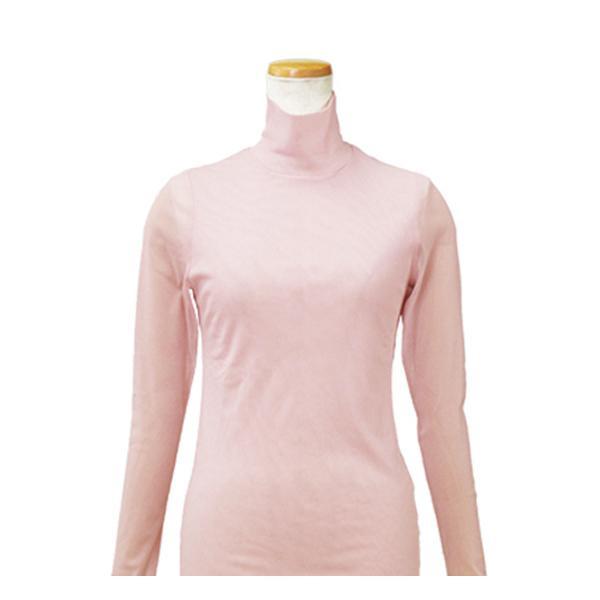 【クーポンあり】【送料無料】ハマナカ インナーL 薄ピンク H180-002-6 肌着 ババシャツ 防寒 長袖 レディース タートルネック 女性 下着