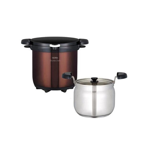 【クーポンあり】【送料無料】サーモス 真空保温調理器シャトルシェフ KBG-4500 クリアブラウン/保温調理だから、手間のかかる料理も簡単です。
