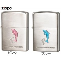 【送料無料】ZIPPO(ジッポー) ライター ラバーズ・ドルフィン(Lovers Dolphin) イルカをデザインしたシンプルでオシャレなジッポー。